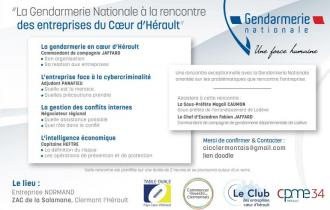 La Gendarmerie Nationale à la rencontre des entreprises du Coeur d'Hérault