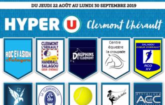 Adhésion au club à prix réduit avec notre partenaire Hyper U Clermont-l'Hérault