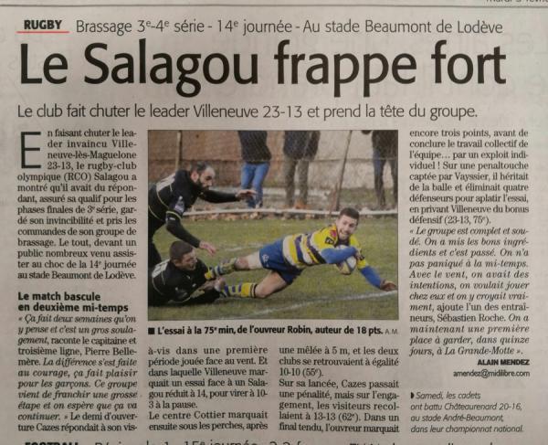 Le Salagou frappe fort !